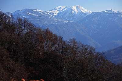 高倉山からの白山