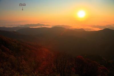 越知山からの白山